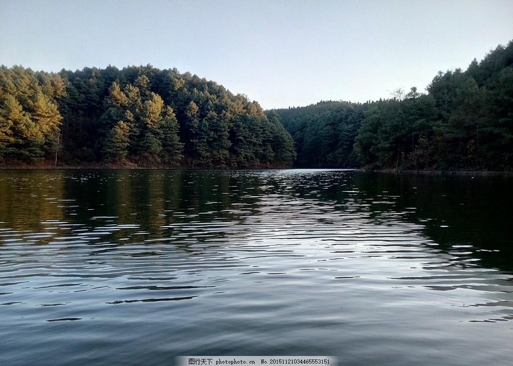 傍晚的水库风景