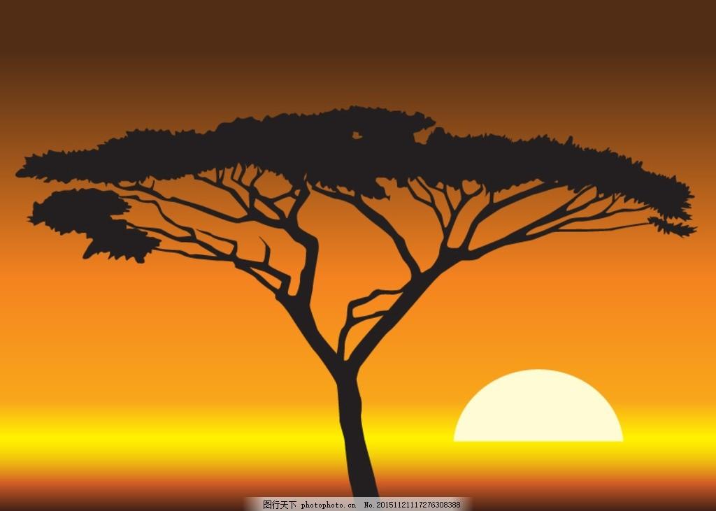 非洲大草原 非洲动物 大象 长颈鹿 非洲设计 南非 自然景观 自然风光