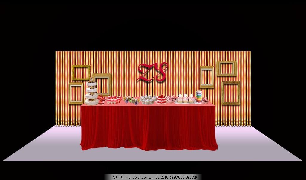 红色婚礼甜品区 主题婚礼 欧式婚礼设计 主题婚礼设计 婚礼背景设计