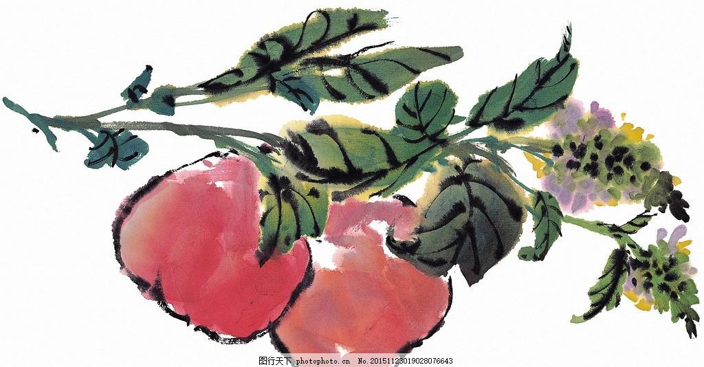 国画 山楂,国画素材 高清大图 手绘画 水墨画 写意-图