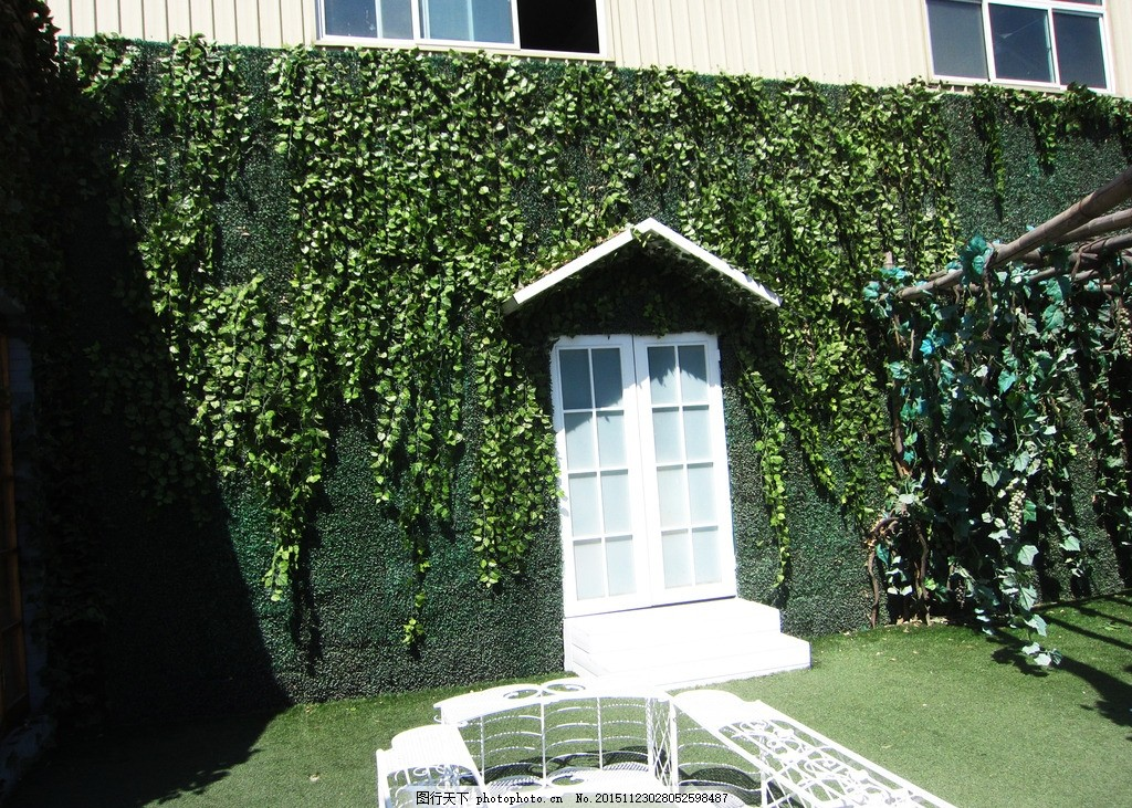 绿色植物墙 摄影背景 婚纱背景 田园植物墙 欧式背景墙 建筑园林