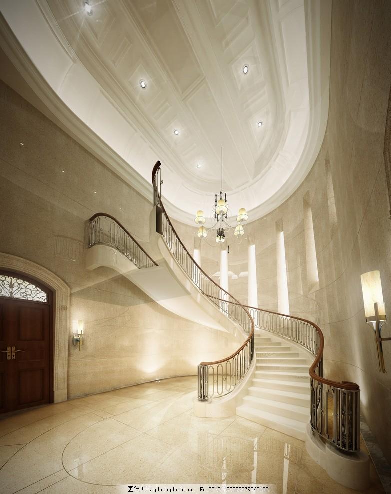 酒店楼梯 装修 会所 大厅 大堂 旋转楼梯 酒店设计 酒店大堂