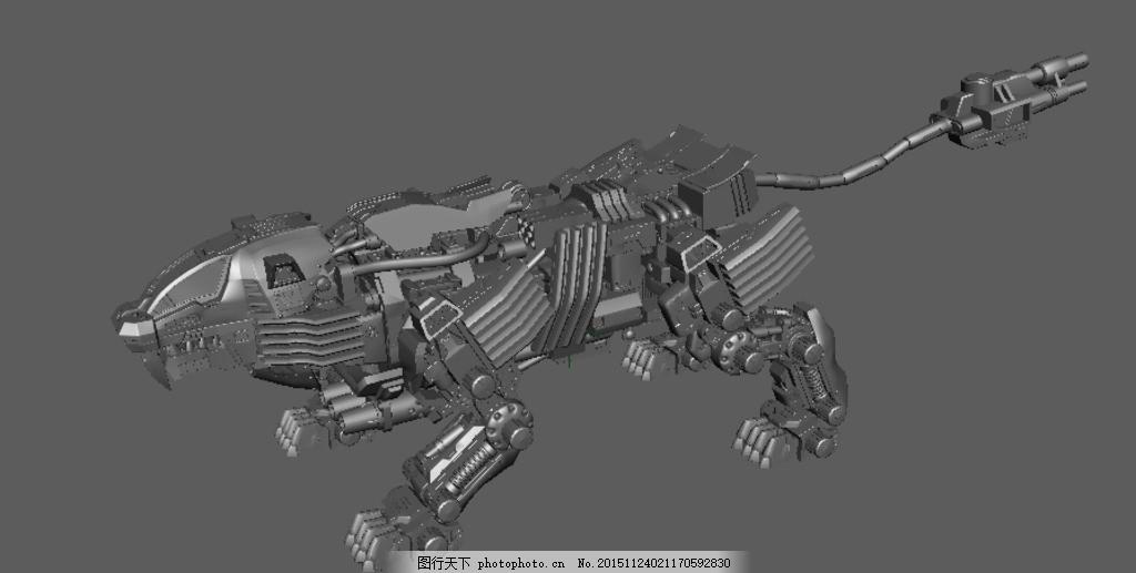 机械狼玛雅3d模型 精致模型 3d模型 maya模型 机械动物 机械狼 设计 3