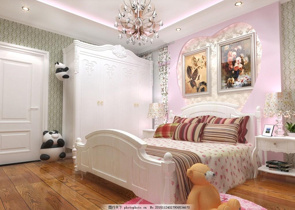 女儿房定稿 简欧 女儿房 唯美 炫酷 简约 装修 欧式 暖色系 木地板