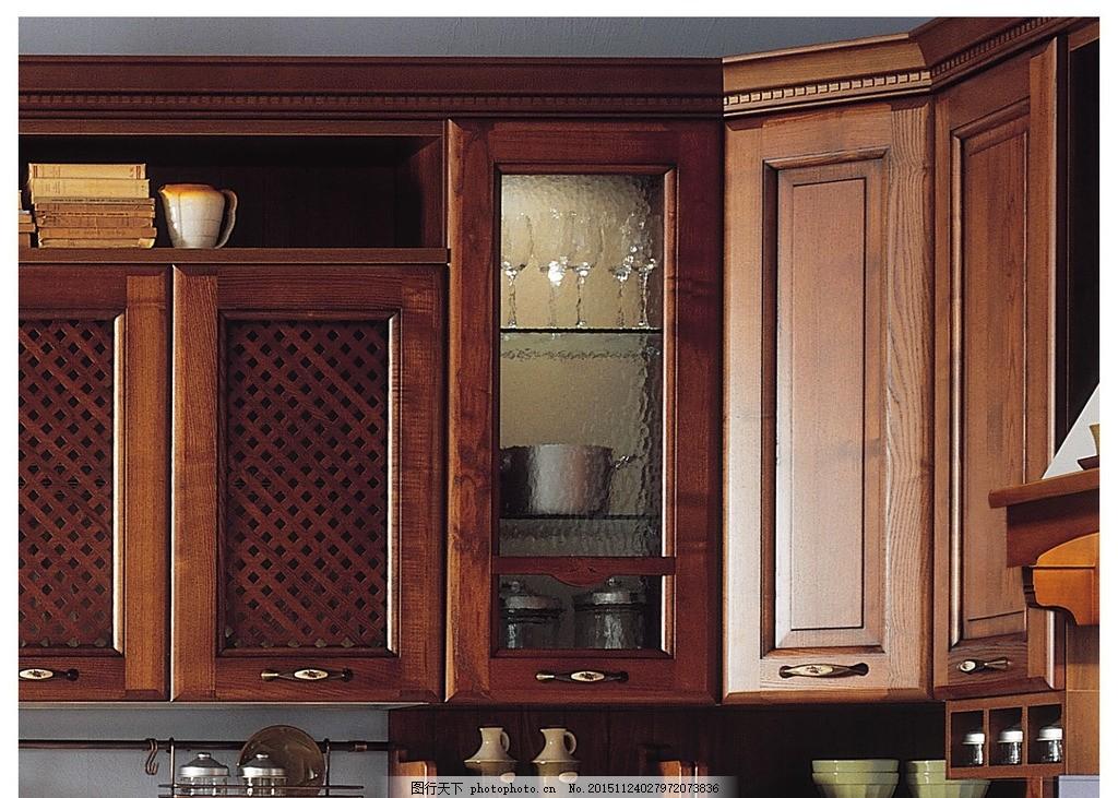 实木橱柜吊柜细节图 欧式橱柜