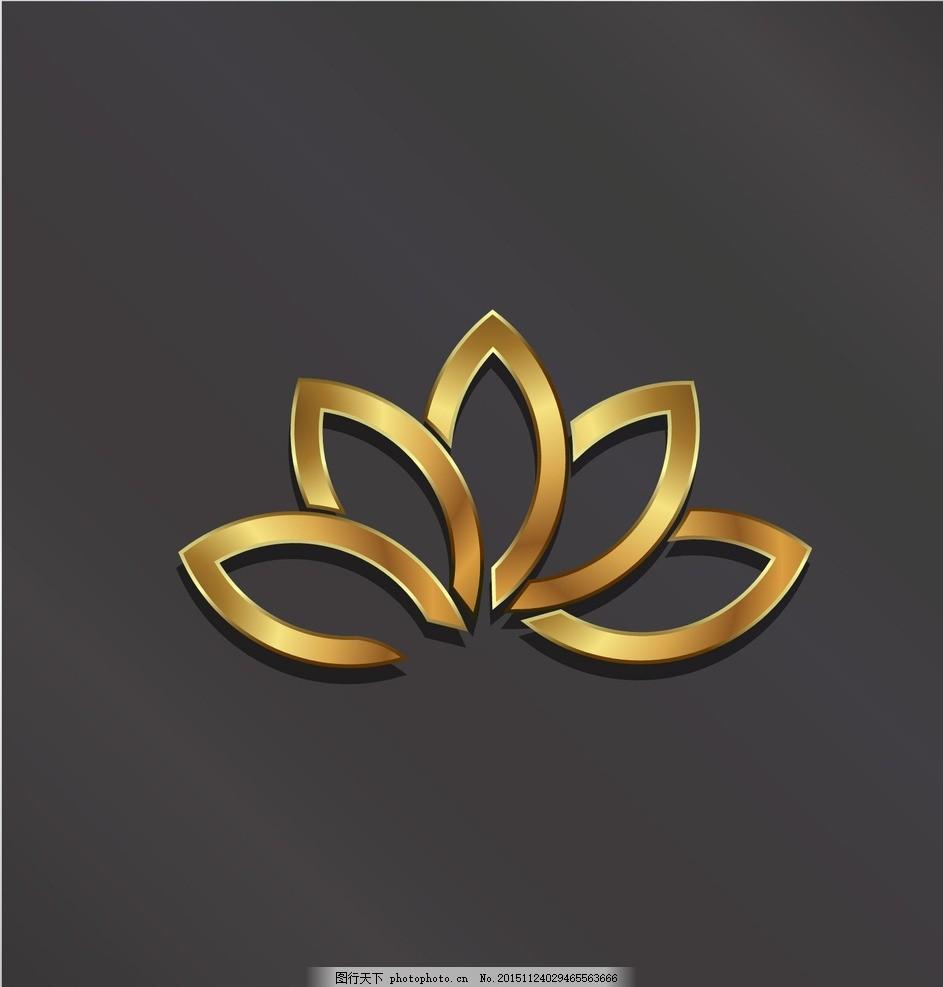 金色金属logo 质感 效果 标志 创意设计 抽象