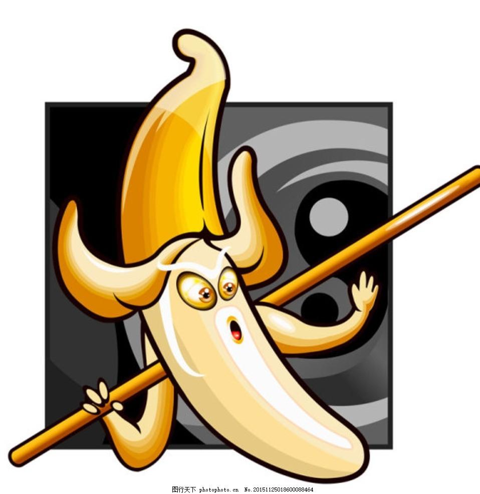 卡通水果 香蕉 水果忍者 水果超人 墙纸 房屋装饰 壁纸 壁画 底纹背景
