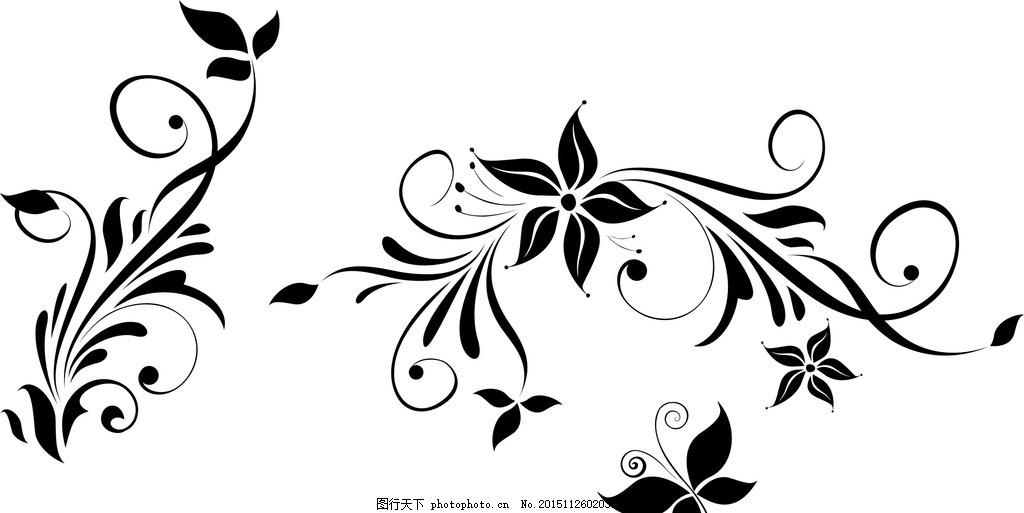 花边 纹样 底纹 矢量 黑色 图案 设计 底纹边框 花边花纹 cdr