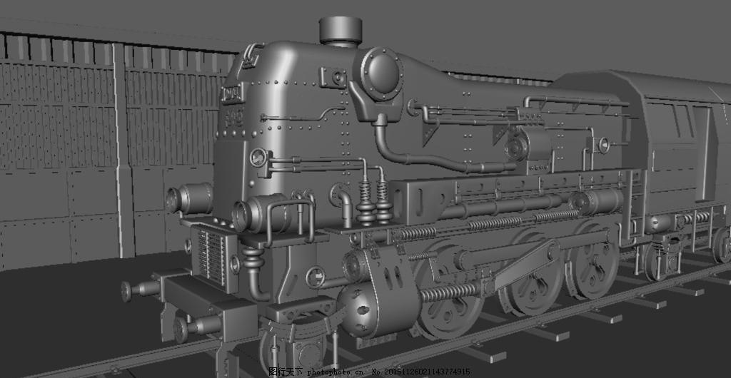 精致和谐号火车maya3d模型,精致模型 火车模型-图行
