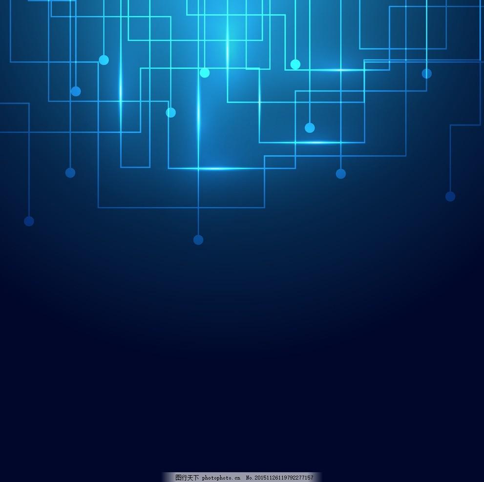 科技感电路图元素装修