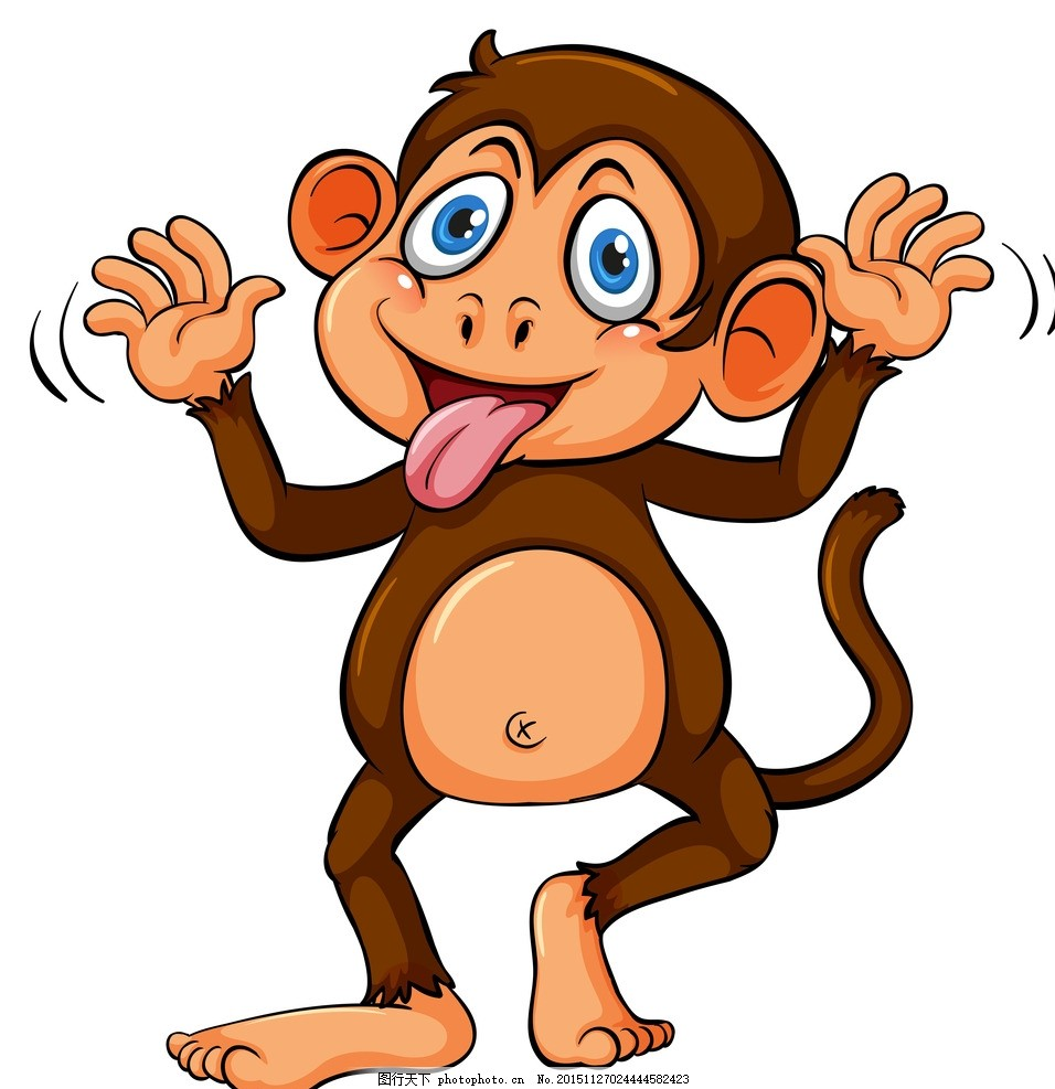 猴子图片大全可爱手绘