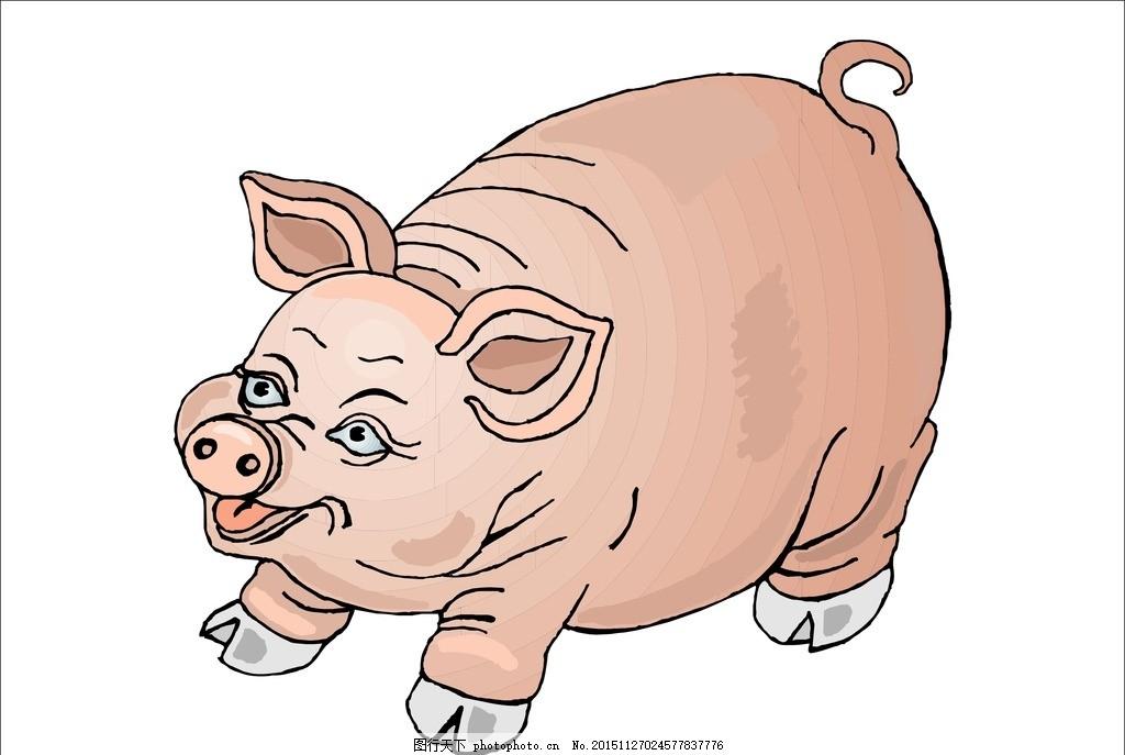 大肥猪 肥猪 二师兄 猪八戒 卡通猪 生肖 猪 可爱的小猪 天蓬元帅 懒
