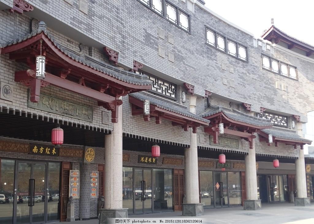 中式建筑 中式装饰 灯笼 红灯笼 吉祥纹 中国纹 屋檐 中式屋檐 镂空纹