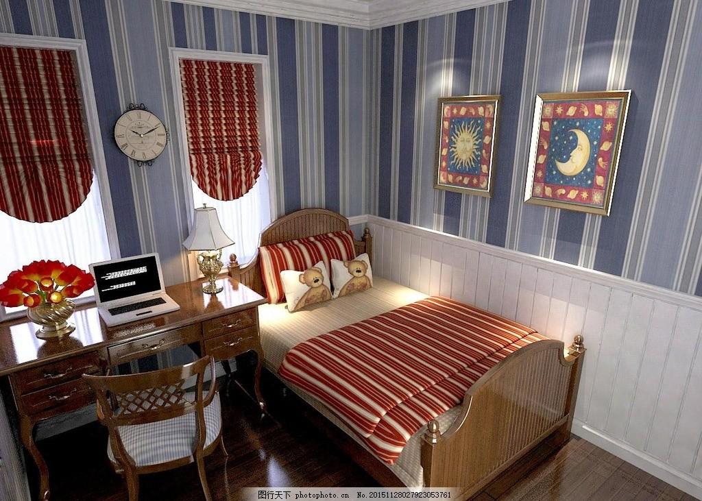 欧式儿童房 儿童房模型 儿童房3d模型 儿童房3d 儿童床3d 儿童高低床