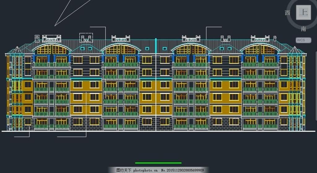 联排五层坡屋别墅施工设计图纸