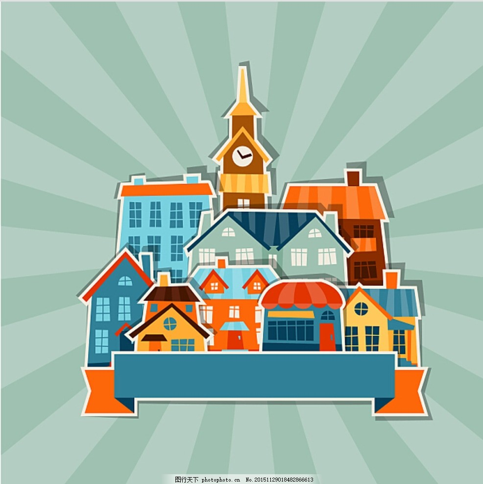 房子 卡通小房子 插畫 卡通房子 樓 矢量圖片 矢量素材 其他矢量