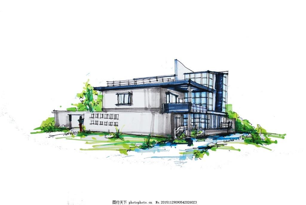 景观 手绘 建筑 马克笔 速写 设计 环境设计        300dpi jpg