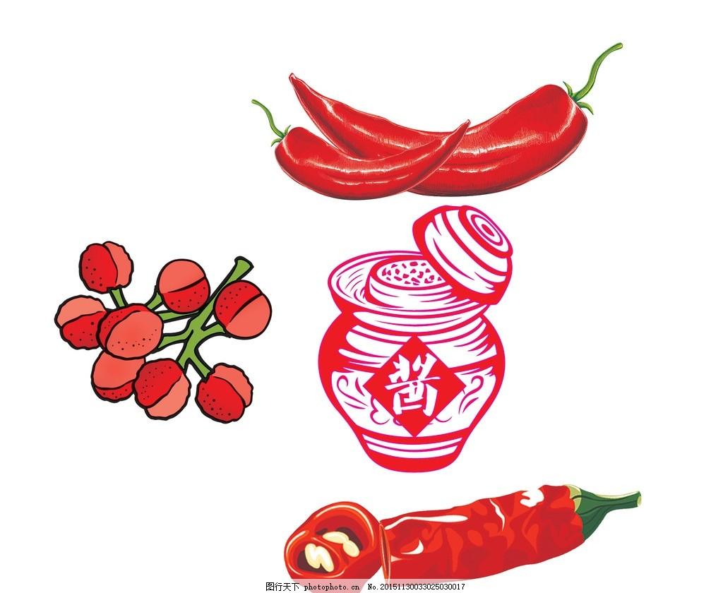 花椒 酱坛 卡通辣椒 辣椒卡通 花椒卡通 喷绘辣椒 高清psd分层素材