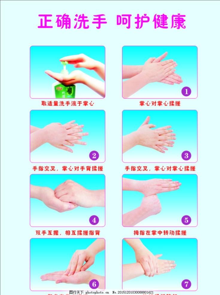 洗手步骤 洗手指示图 幼儿园洗手图 小学洗手指示 正确洗手图 设计