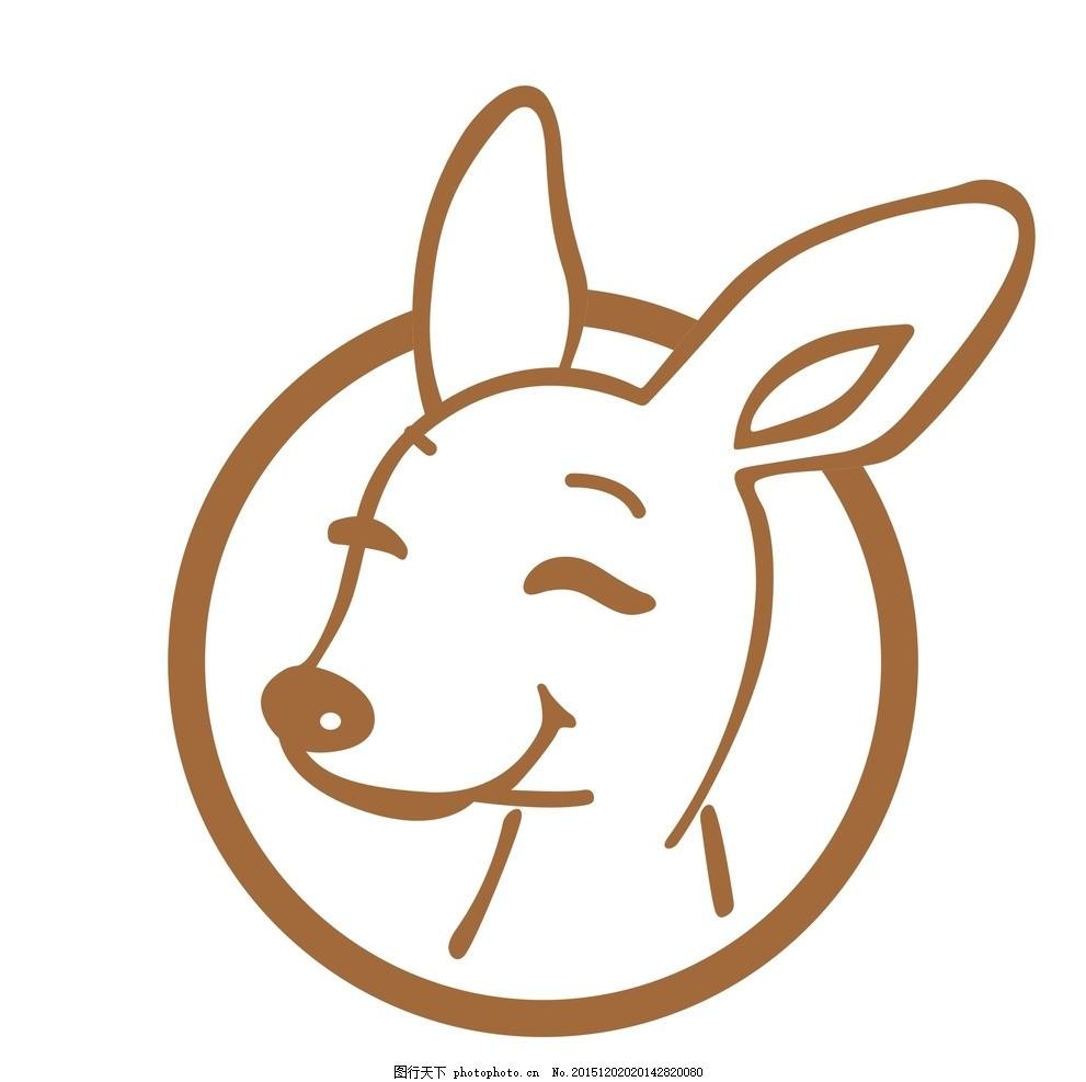 袋鼠 卡通图标 卡通 动漫动画 卡通车贴 动物墙贴 卡通装饰贴 矢量