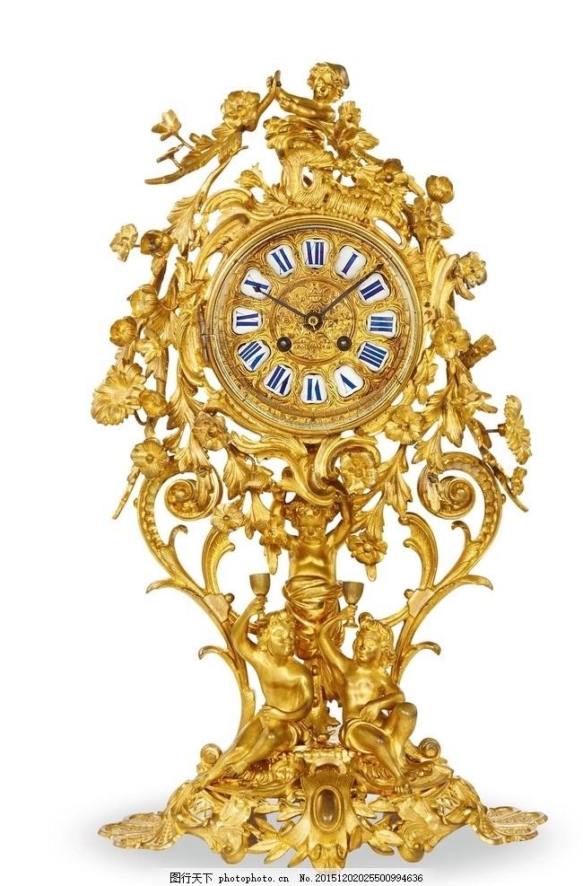 欧式古钟 欧式 古钟 钟表 欧式花纹 黄金花纹 花边饰物 花边 花纹