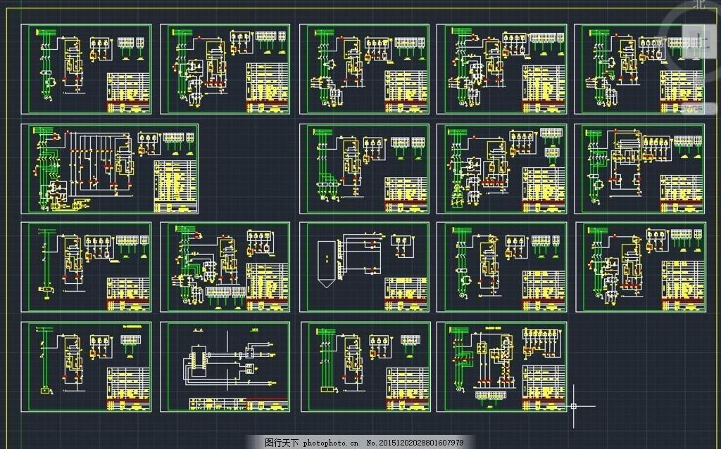 福建水泥厂全套电气设计图纸 变频控制 强电系统 照明系统 弱电系统