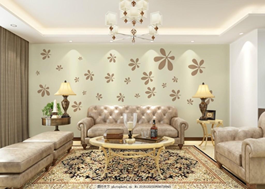 客厅沙发背景 硅藻泥矢量图 樽 中式风格 兰舍 古典 硅藻泥花型