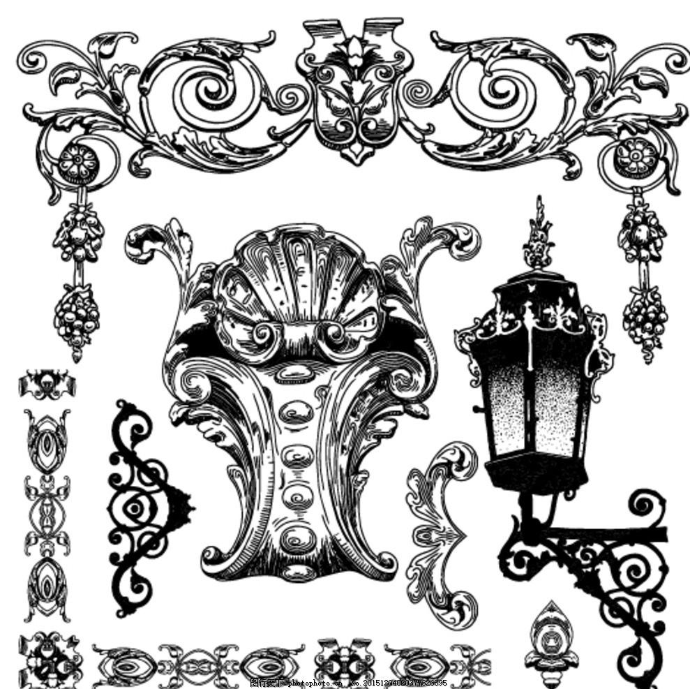 矢量欧式复古装饰元素