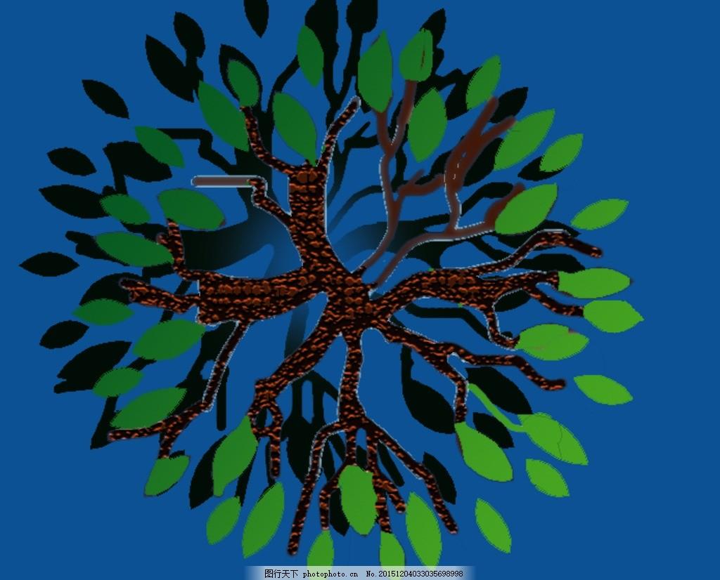 总平面图素材 景观设计 风景园林 彩平素材 植物图例 平面树 psd分层