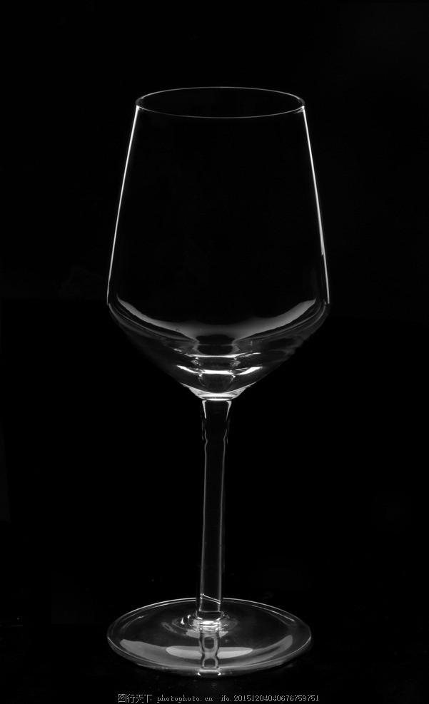 高脚杯 玻璃 杯子 逆光 静物 黑白 摄影