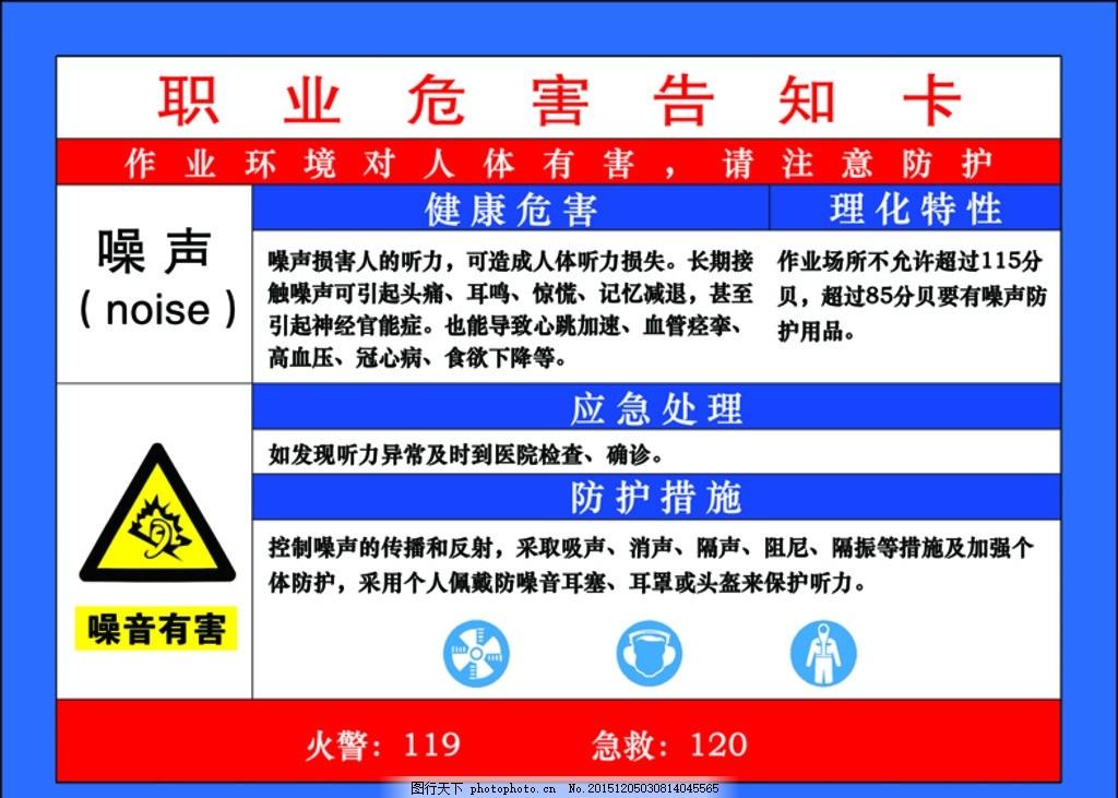 职业 危害 告知卡 展板 标志 噪声 宣传展板2015 设计 广告设计 室外