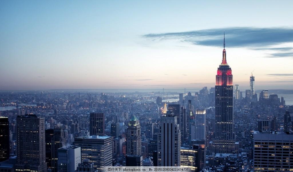 城市 建筑物 景色 全景 海报 背景 清晨 黄昏 单张图片 设计 自然景