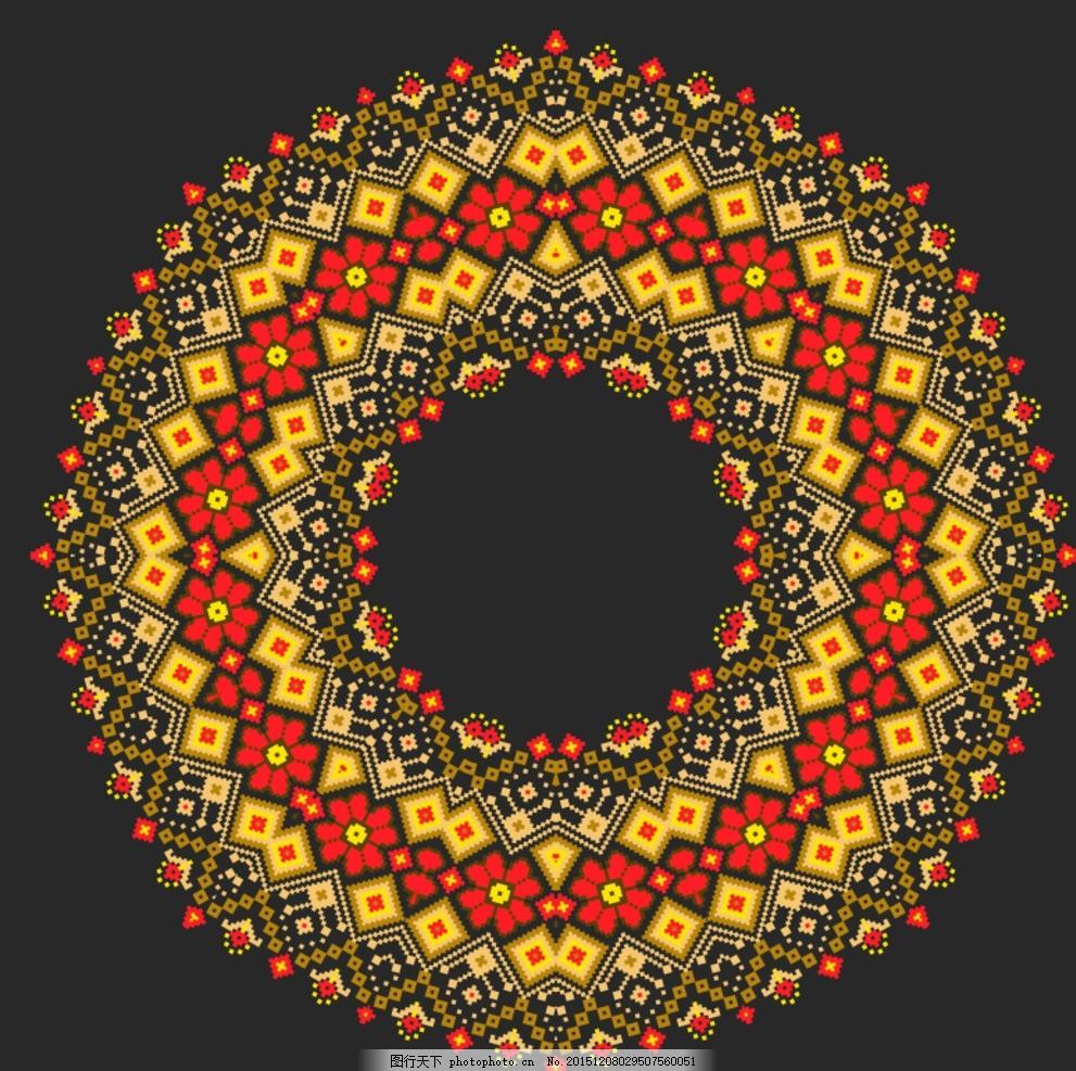 针织花朵圆环图片