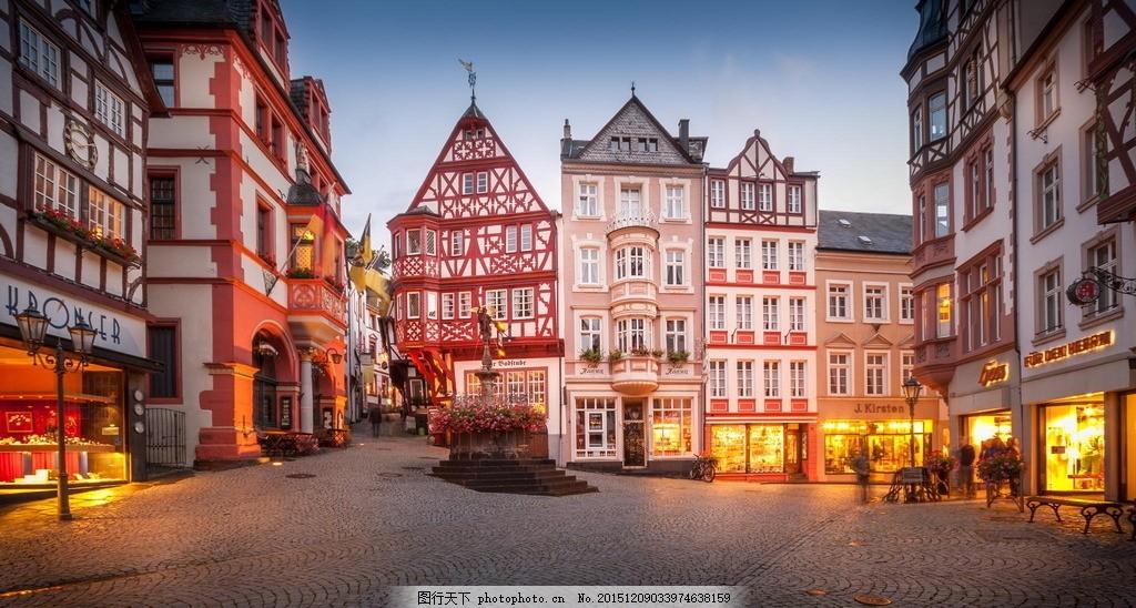 灯光街景 欧洲 欧美 欧式 欧式建筑 欧式风情建筑 唯美建筑 欧式背景