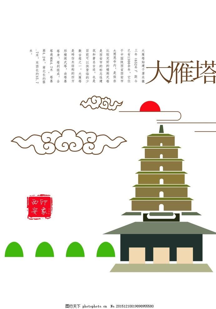 西安印象 大雁塔 钟楼 映像