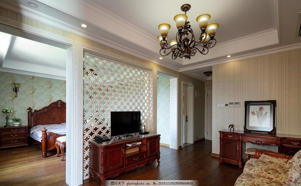 欧式家居 皇室客厅 雕花 吊顶 欧式电视柜 红木 欧式客厅 沙发