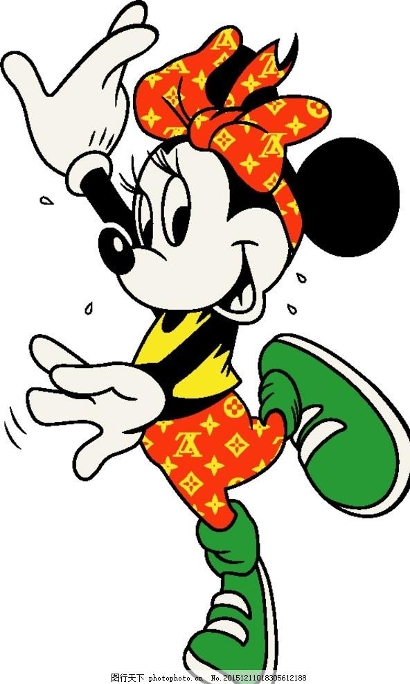 米奇 米老鼠 可爱 卡通 印花图案 童装 ai图 设计 动漫动画 动漫人物