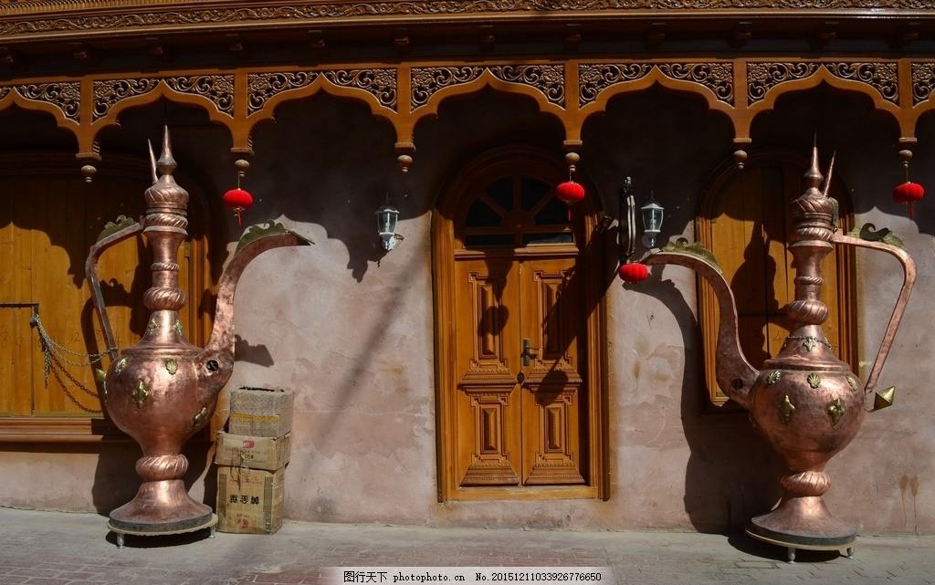 新疆喀什老城 古城 城区 维吾尔族建筑 摄影 国内旅游