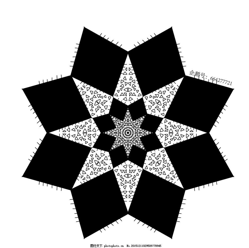 曼陀罗图案多边形背景素材