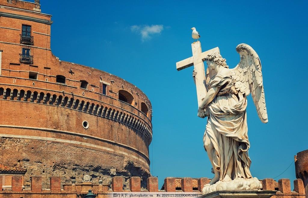 唯美罗马 风景 风光 旅行 人文 城市 欧洲 意大利 古城 雕塑