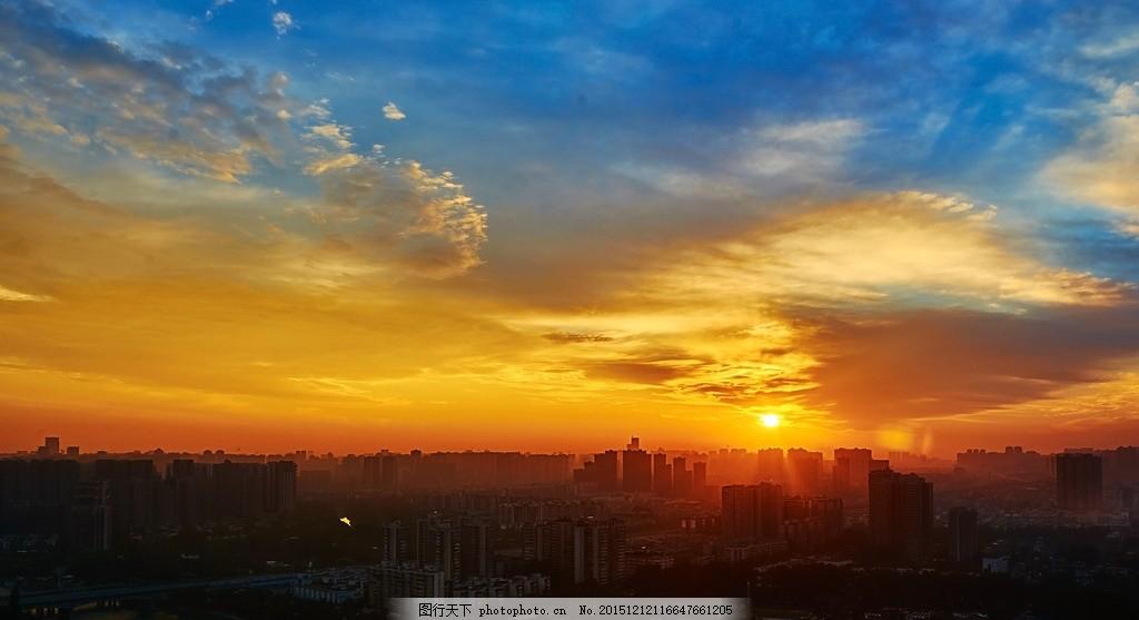 成都 日出 锦江 冷暖 朝阳 风景 江景 自然 摄影 自然景观