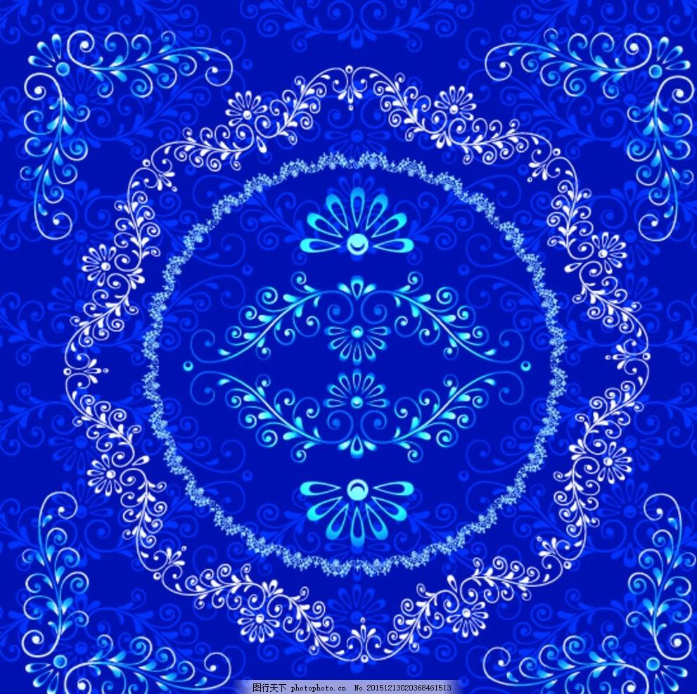 花纹边框元素 欧式怀旧花纹 欧式复古花纹 欧式边框 欧式花纹底纹
