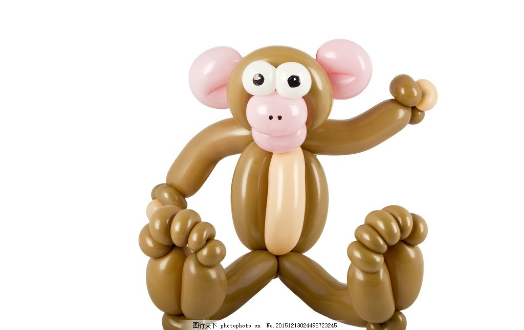 气球猴子 气球 猴子 动物 野生动物 卡通 插画 背景 海报 画册 矢量动