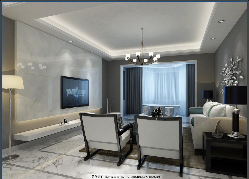 后现代简约家装设计 家装效果图 客厅设计 客厅效果图 背景墙