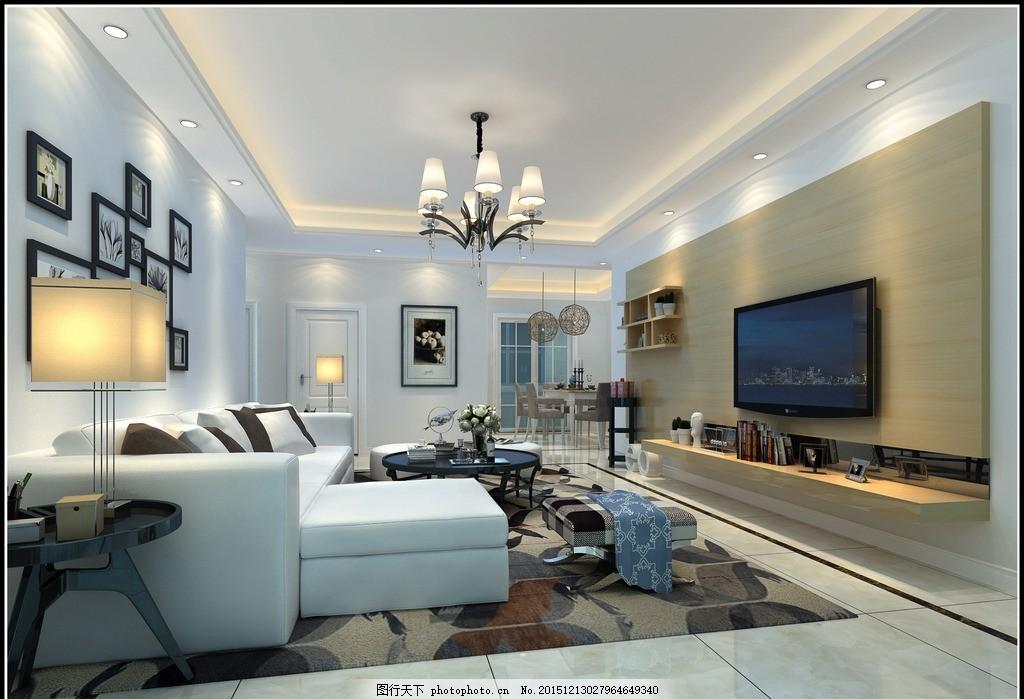 时尚现代家装设计 家装效果图 客厅设计 背景墙