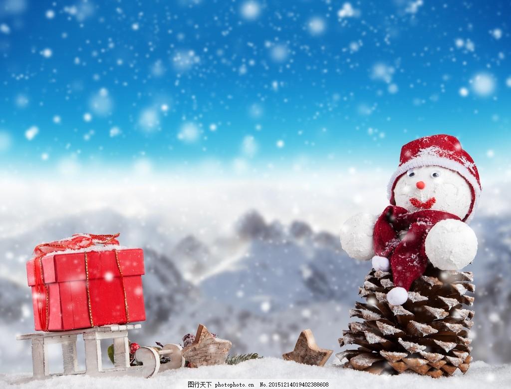 炫酷雪人 唯美 可爱 下雪 浪漫 圣诞节 圣诞雪人