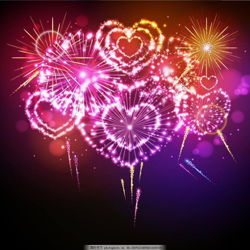 绚丽烟花 焰火 烟花 礼花 爆竹 新年 新年素材 彩色 喜庆 节日 烟花