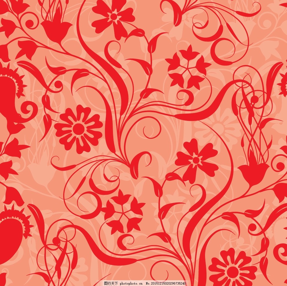 卡通花纹 抽象底纹 欧式花纹 背景花纹 欧式背景 复古花纹 花布纹理