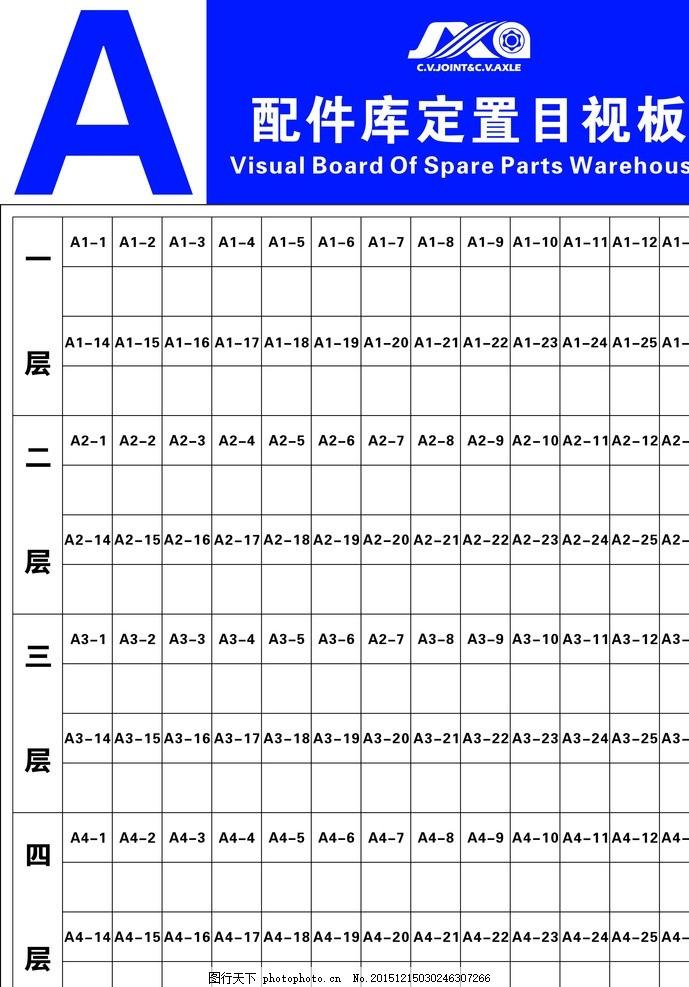 仓库货架牌 仓库 看板 6s 定置 目视化看板 设计 广告设计 展板模板