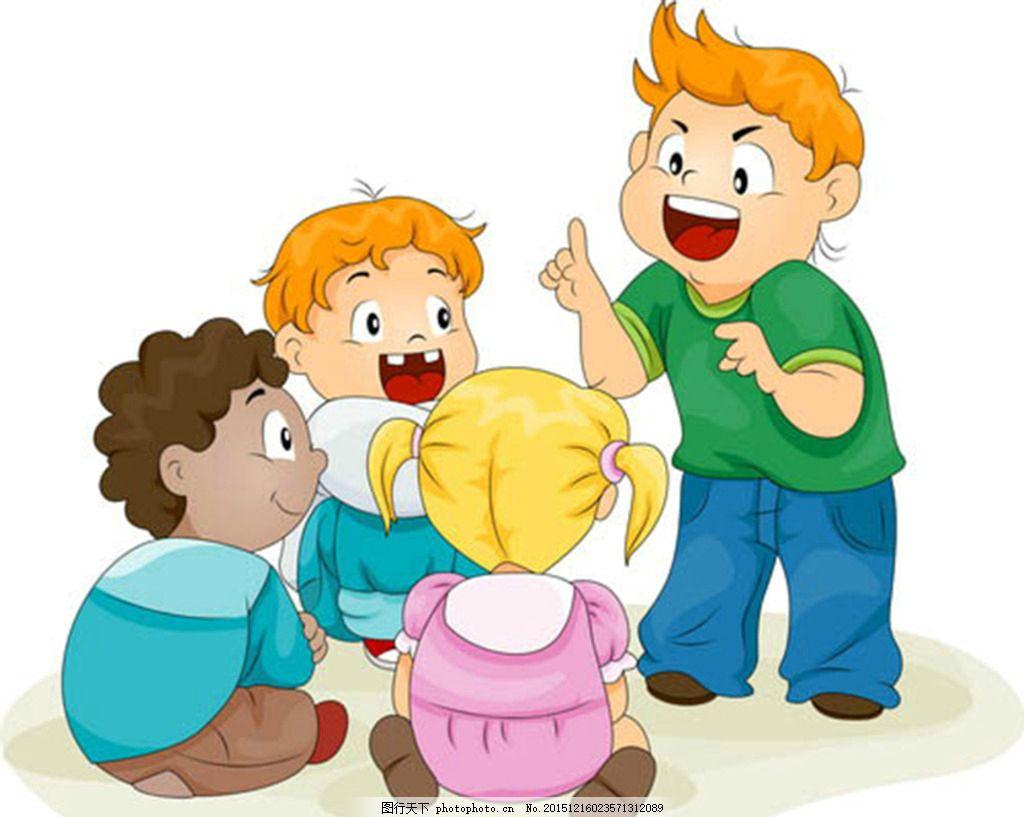 小孩子 讲故事 幼儿园 金发孩子 听故事 小辫子 装饰品素材